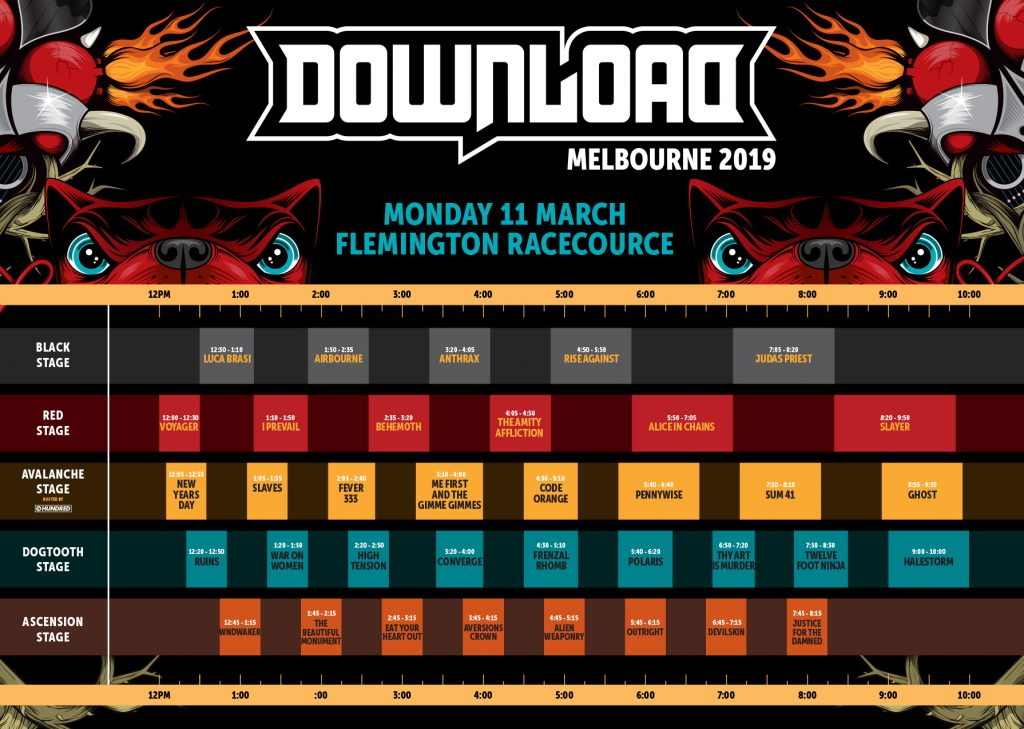 Download Timetable Melbourne