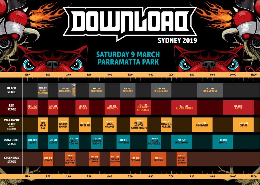 Download Timetable Sydney